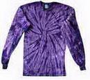 Custom Spider Purple Long Sleeve Tye Die Shirt