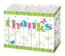 Blank Thank In Bloom Large Basket Box, 10 1/4