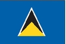 Custom Nylon St. Lucia Indoor/ Outdoor Flag (5'x8')