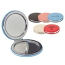 Custom Pu Leather Round Compact Mirror, 2 1/2