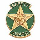 Blank Safety Award Pins (Safety Award Star & Wreath), 3/4