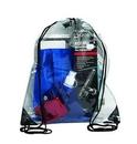 Custom Pvc Clear Drawstring Backpack, 16.93