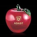 Custom Red Beaufort Apple Paperweight, 3 1/2