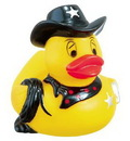 Custom Rubber Western Sheriff Duck, 3 1/2