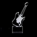 Custom Crystal Guitar Music Award (Sandblasted), 10