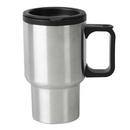Custom 16 Oz. Stainless Steel Travel Mug w/ Plastic Liner, 5 3/4