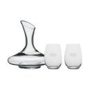 Custom Vivaldi 1.5L Wine Carafe with two Stemless Glasses