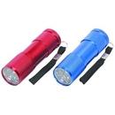 Custom Red 9 LED Aluminium Mini Pocket Torch Flashlight Camping Light, 3 1/2