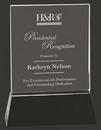 Custom Elegantly Done Rectangle Crystal Award M, 8