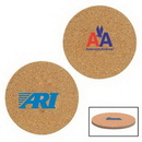 Custom Cork & Fiberboard Round Beverage Coaster, 3 3/4