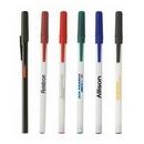 Custom Classic Stick Pen w/White Barrel, 5.75