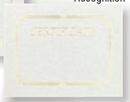 Foil Embossed Blank Certificate Border, 8 1/2