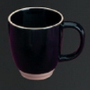 Custom 2 Tone Mug with C Handle (Black/White)