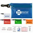 Custom 19 Piece Doctor's Aid Kit #2 w/ Translucent Vinyl Zipper Pouch