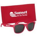 Custom Malibu Sunglasses With Pouch, 3 1/2
