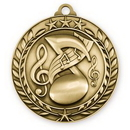 Custom 2 3/4'' Music Wreath Award Medallion