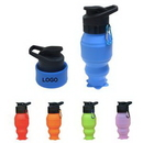 Custom Silicone Collapsible Water Bottle, 3 1/4