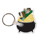 Custom Leprachaun W/Pot Of Gold Key Tag