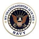 Custom Military - U.S. Navy Granddaughter Pin, 1