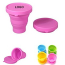 Custom Travel Silicone Collapsible Folding Cup, 3 3/20