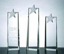 Custom Metal Star Tower Award - Optic Crystal (8 1/4