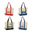Custom Deluxe Zippered Cotton Canvas Tote, Grocery Shopping Bag, 22