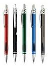 Custom Retractable Metal Pen w/ Dual Black Grip