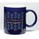 Custom 11 Oz. 2-Tone Ceramic Mug / Contrast Interior (Cobalt/ White)