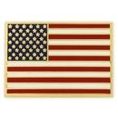 Custom Rectangle - Made In America Flag Pin, 78/