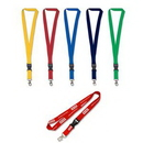 Custom Detachable Polyester Lanyard with Bull Dog Clip, 36