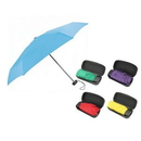 Custom Mini Folding Travel Umbrella W/Case, 7