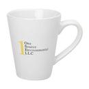 Custom 14 Oz. White Medium Cafü Mug, 4 9/16