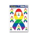 Blank Rainbow Ribbon Clings