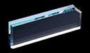Custom Mengano Nameplate w/ Clipped Corner - Starfire Glass (2 3/4