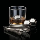 Custom Swiss Force Set of 2 Whisky Balls & Tongs