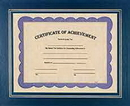 Custom Blue Certificate Holder, 13 1/4