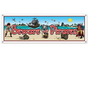 Custom Beware Of Pirates All Weather Banner, 5' L x 21