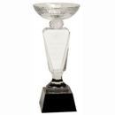 Custom Clear Crystal Cup Award w/ Black Pedestal Base (11