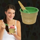 Custom Green Ice Cream Bowl And Spoon Set