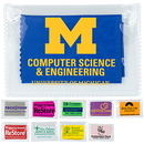 Blank Microfiber Cleaning Cloth & Screen Cleaner In Imprinted Vinyl Pouch, 4