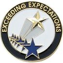 Blank Scholastic Award Pin (Exceeding Expectations), 1