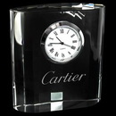 Custom Mini Designer Crystal Clock Rectangle, 3 1/8