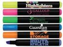 Custom Brite Spots Black Barrel Jumbo Fluorescent Highlighter w/Full Color Decal, 5