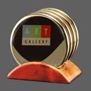 Custom Wainwright Coasters - Set of 4 (Sublim Gold), 4.5