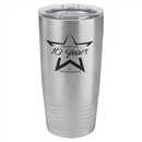 Custom 20 oz. Polar Camel Ringneck Tumbler with Clear Lid Stainless Steel, 3 3/8