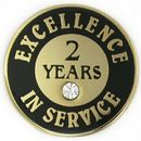 Custom Excellence In Service Pin - 2 Years, 3/4