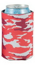 Custom Red Camo Scuba Pocket Coolie Can Cover (4 Color Process)