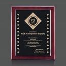 Custom Noranda Ebony & Rosewood Wall Plaque (8