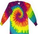 Custom Reactive Rainbow Long Sleeve Tye Dye Shirt