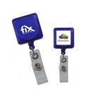 Custom Translucent Square Badge Holders, 1 1/4